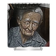 Grandma Under Glass Shower Curtain