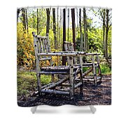 Grandmas Country Chairs Shower Curtain by Athena Mckinzie