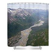 Granite Creek In The Chugach Mountains Shower Curtain