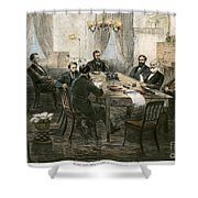 Grants Cabinet, 1869 Shower Curtain