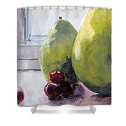 Grapes And Pears Shower Curtain