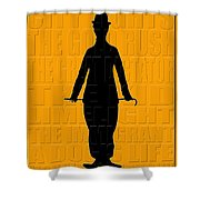 Graphic Chaplin Shower Curtain