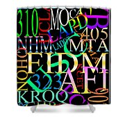 Graphic Los Angeles 1 Shower Curtain