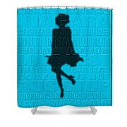 Graphic Marilyn Monroe Shower Curtain