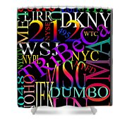 Graphic New York 1 Shower Curtain