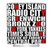 Graphic New York 3 Shower Curtain