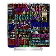 Graphic Presidents Shower Curtain