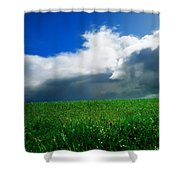 Grassy Field, Ireland Shower Curtain by The Irish Image Collection