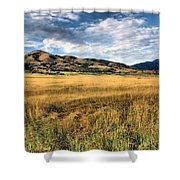 Grassy Plains And Ancient Dunes Shower Curtain