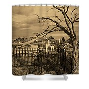Grave At Virginia City Shower Curtain