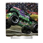 Grave Digger At Ford Field Detroit Mi Shower Curtain