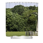 Grave Of Lafayette Meeks Appomattox Virginia Shower Curtain by Teresa Mucha