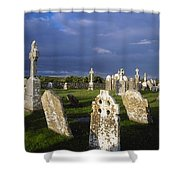 Graveyard, Clonmacnoise, County Offaly Shower Curtain
