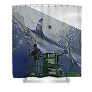 Gray Taxidermy Mural Shower Curtain
