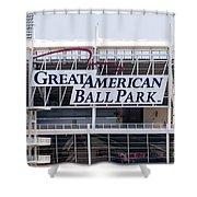 Great American Ball Park Sign In Cincinnati Shower Curtain