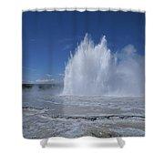Great Fountain Geyser Seen Shower Curtain