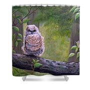 Great Horned Owlette Shower Curtain