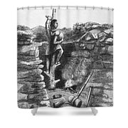 Great Lakes: Ancient Miner Shower Curtain