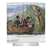 Great Lakes: Canoe, 19th C Shower Curtain