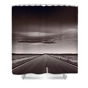 Great Plains Road Trip Bw Shower Curtain