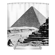 Great Pyramid Of Giza - Egypt - C 1926 Shower Curtain