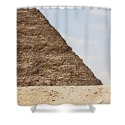 Great Pyramid Of Khufu Cheops And Camel Shower Curtain