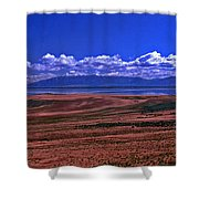 Great Salt Lake And Antelope Island Shower Curtain
