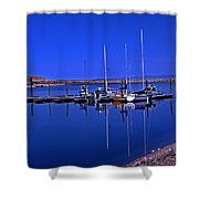 Great Salt Lake Antelope Island Marina Shower Curtain