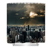 Great Skies Over Manhattan Shower Curtain by Hannes Cmarits