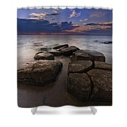 Great South Bay Sunset Shower Curtain