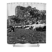 Great Tower Of Tiryns - Greece - Birthplace Of Hercules Shower Curtain