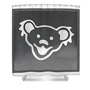 Greatful Dead Dancing Bear In Negative Shower Curtain