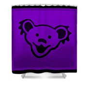 Greatful Dead Dancing Bear In Purple Shower Curtain