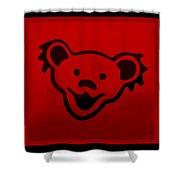 Greatful Dead Dancing Bear In Red Shower Curtain