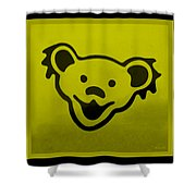 Greatful Dead Dancing Bear In Yellow Shower Curtain