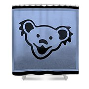 Greatful Dead Dancing Bears In Cyan Shower Curtain