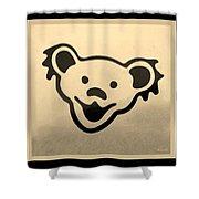 Greatful Dead Dancing Bears In Sepia Shower Curtain