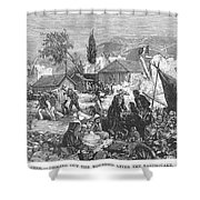Greece: Earthquake, 1880 Shower Curtain by Granger