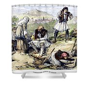 Greece: Grave Robbers Shower Curtain