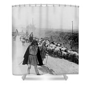 Greece Shepherds And Flocks - C 1909 Shower Curtain by International  Images