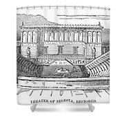 Greece: Theater Of Segesta Shower Curtain