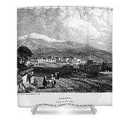Greece: Yanina, 1833 Shower Curtain by Granger