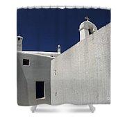 Greek Architecture Mykonos 2 Shower Curtain