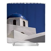 Greek Architecture, Santorini, Greece Shower Curtain
