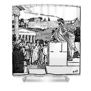 Greek Assembly Shower Curtain