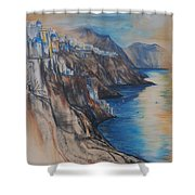 Greek Coast Shower Curtain