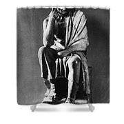 Greek Philosopher Shower Curtain by Photo Researchers