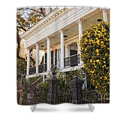 Greek Revival And The Tiny Pink Shoe - Garden District New Orleans Shower Curtain
