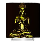 Green And Gold Buddha Shower Curtain