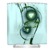 Green Bubblegum Shower Curtain